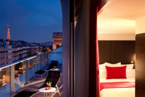 Paris Arc de Triomphe Luxury Hotel Room