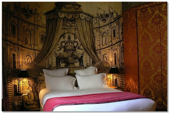 Christian Lacroix designed rooms at Petit Moulin