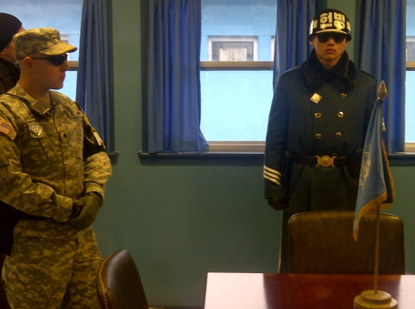 Soldiers in the Joint Security Area