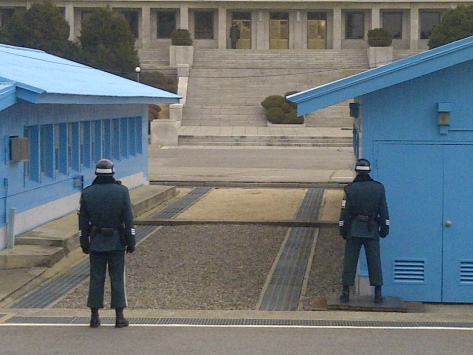 Joint Security Area (JSA) South Korea Soldiers in the Demilitarized Zone