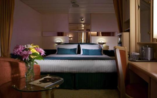 A stateroom on the Splendour of the Seas