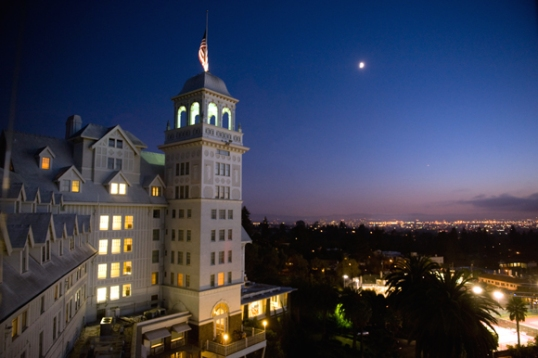 The Claremont Hotel at Night