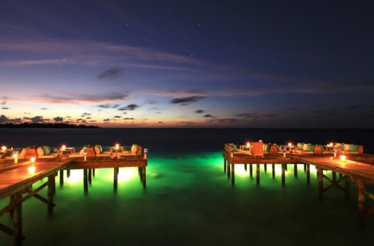 Six Senses Laamu at Night