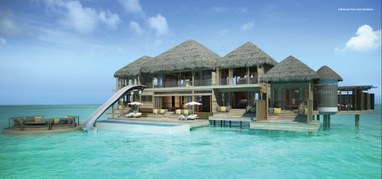 How's this for an over-water bungalow?