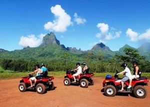 ATVing in French Polynesia!