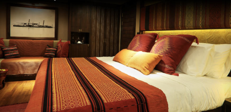 Your bed in the suite