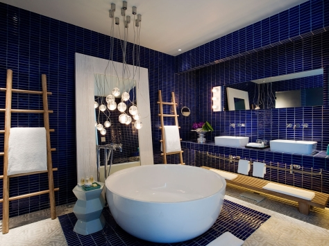 The bathroom in a suite