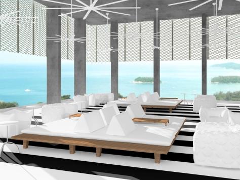 A rendering of Point Yamu's Italian Restaurant, La Serena