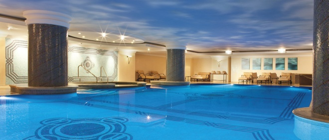 The Indoor Pool at the Ritz Carlton Istanbul