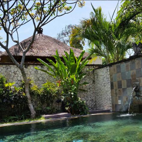 A quick photo of my private villa pool