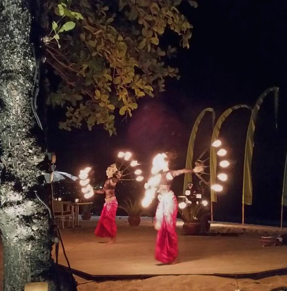 Firedancers at the Belmond Jimbaran Puri Bali