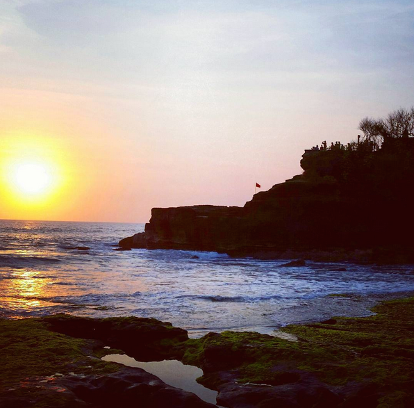 The sunset from Tanah Lot Temple