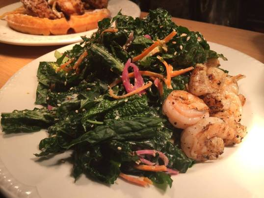 kale salad shrimp